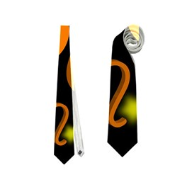 Leo Floating Zodiac Sign Neckties (Two Side)