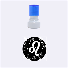 Leo Floating Zodiac Sign Rubber Round Stamps (small)
