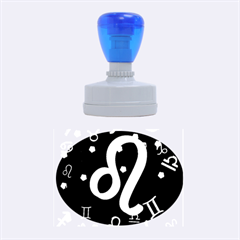 Leo Floating Zodiac Sign Rubber Oval Stamps