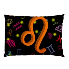Leo Floating Zodiac Sign Pillow Cases (Two Sides)