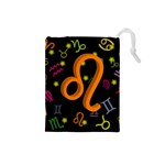 Leo Floating Zodiac Sign Drawstring Pouches (Small)  Front
