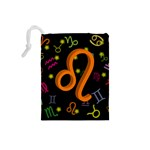 Leo Floating Zodiac Sign Drawstring Pouches (Small)  Back