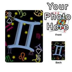 Gemini Floating Zodiac Sign Playing Cards 54 Designs