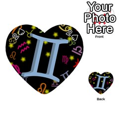 Gemini Floating Zodiac Sign Playing Cards 54 (Heart)