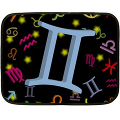 Gemini Floating Zodiac Sign Fleece Blanket (Mini)
