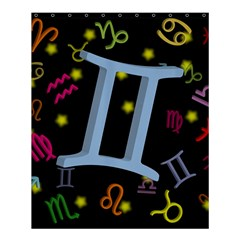 Gemini Floating Zodiac Sign Shower Curtain 60  x 72  (Medium)