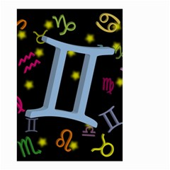 Gemini Floating Zodiac Sign Small Garden Flag (Two Sides)