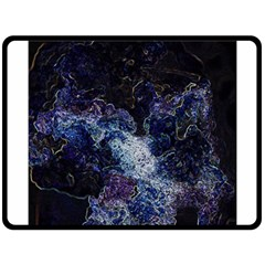 Space Like No 3 Double Sided Fleece Blanket (large)