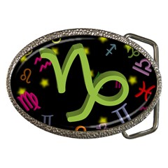 Capricorn Floating Zodiac Sign Belt Buckles
