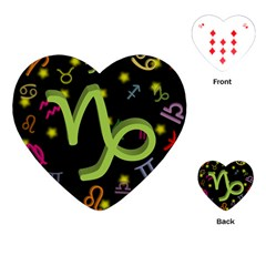 Capricorn Floating Zodiac Sign Playing Cards (heart)