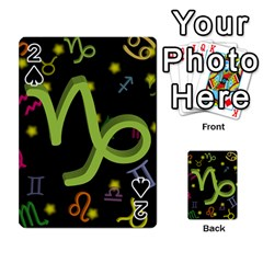 Capricorn Floating Zodiac Sign Playing Cards 54 Designs