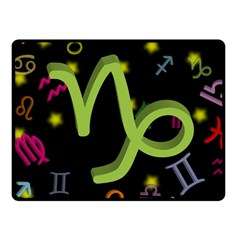Capricorn Floating Zodiac Sign Fleece Blanket (Small)
