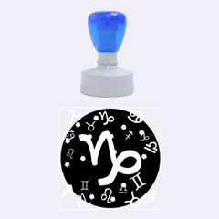 Capricorn Floating Zodiac Sign Rubber Round Stamps (medium)
