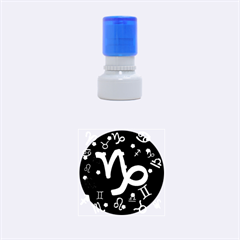 Capricorn Floating Zodiac Sign Rubber Round Stamps (small)