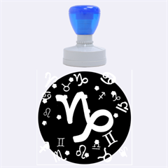 Capricorn Floating Zodiac Sign Rubber Round Stamps (Large)