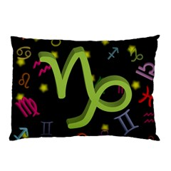 Capricorn Floating Zodiac Sign Pillow Cases (Two Sides)