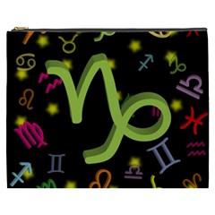 Capricorn Floating Zodiac Sign Cosmetic Bag (XXXL)