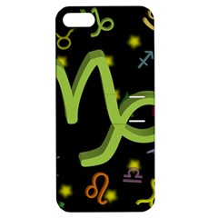 Capricorn Floating Zodiac Sign Apple iPhone 5 Hardshell Case with Stand
