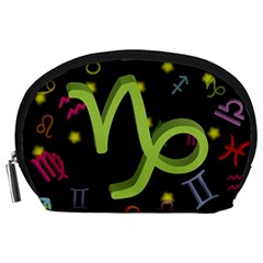 Capricorn Floating Zodiac Sign Accessory Pouches (large)