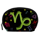 Capricorn Floating Zodiac Sign Accessory Pouches (Large)  Front