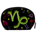 Capricorn Floating Zodiac Sign Accessory Pouches (Large)  Back