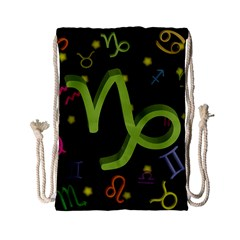 Capricorn Floating Zodiac Sign Drawstring Bag (Small)