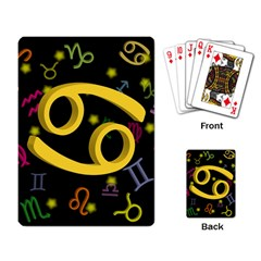 Cancer Floating Zodiac Sign Playing Card