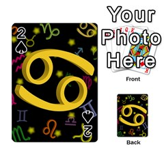 Cancer Floating Zodiac Sign Playing Cards 54 Designs