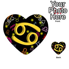 Cancer Floating Zodiac Sign Playing Cards 54 (Heart)