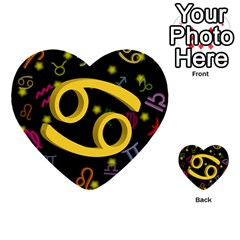 Cancer Floating Zodiac Sign Multi Purpose Cards (heart)
