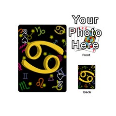 Cancer Floating Zodiac Sign Playing Cards 54 (Mini)