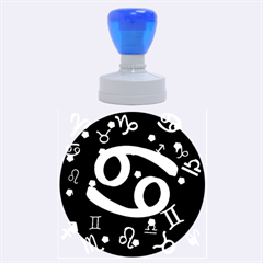 Cancer Floating Zodiac Sign Rubber Round Stamps (Large)