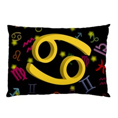Cancer Floating Zodiac Sign Pillow Cases (two Sides)