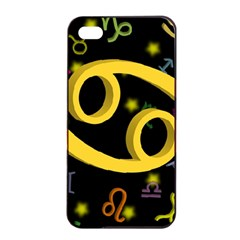 Cancer Floating Zodiac Sign Apple iPhone 4/4s Seamless Case (Black)
