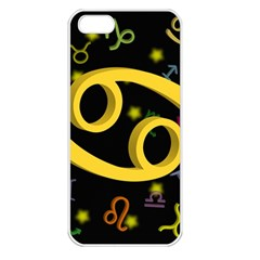 Cancer Floating Zodiac Sign Apple iPhone 5 Seamless Case (White)