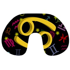 Cancer Floating Zodiac Sign Travel Neck Pillows