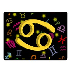 Cancer Floating Zodiac Sign Double Sided Fleece Blanket (Small)