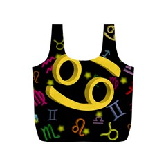 Cancer Floating Zodiac Sign Full Print Recycle Bags (S)