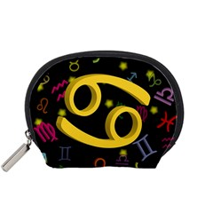 Cancer Floating Zodiac Sign Accessory Pouches (small)