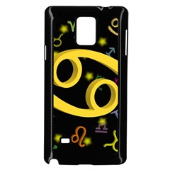 Cancer Floating Zodiac Sign Samsung Galaxy Note 4 Case (black)
