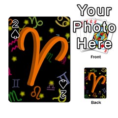 Aries Floating Zodiac Sign Playing Cards 54 Designs