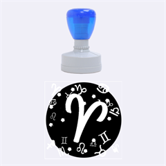Aries Floating Zodiac Sign Rubber Round Stamps (medium)