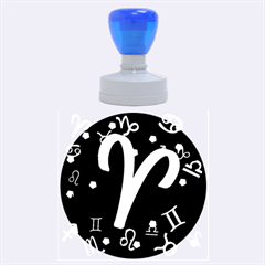Aries Floating Zodiac Sign Rubber Round Stamps (large)