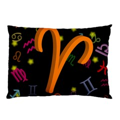 Aries Floating Zodiac Sign Pillow Cases (two Sides)