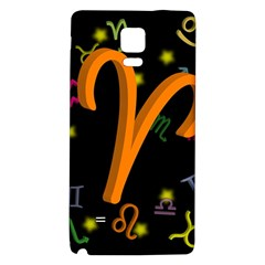 Aries Floating Zodiac Sign Galaxy Note 4 Back Case