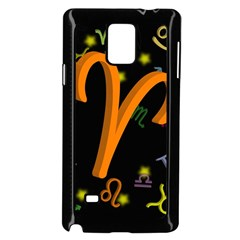 Aries Floating Zodiac Sign Samsung Galaxy Note 4 Case (black)