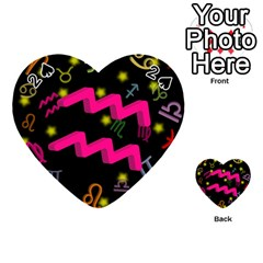 Aquarius Floating Zodiac Sign Playing Cards 54 (Heart)