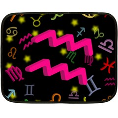Aquarius Floating Zodiac Sign Fleece Blanket (Mini)