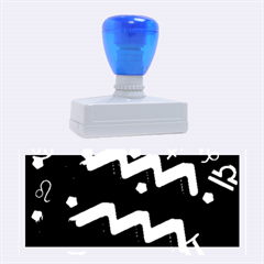 Aquarius Floating Zodiac Sign Rubber Stamps (large)