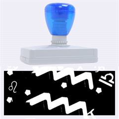 Aquarius Floating Zodiac Sign Rubber Address Stamps (xl)